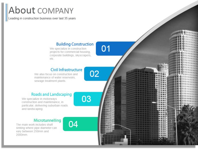 Construction Company Profile PowerPoint Template Design | Business ...
