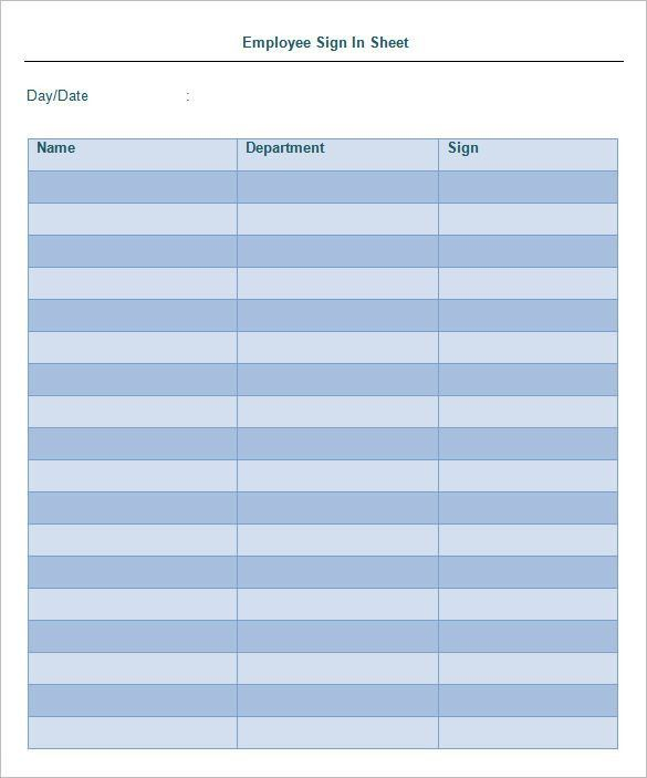 how to make a sign in sheet - Template