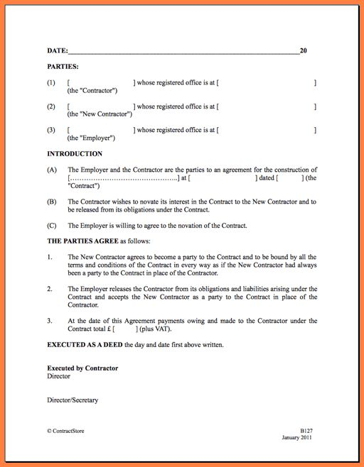 simple contractor agreement - Sales Report Template