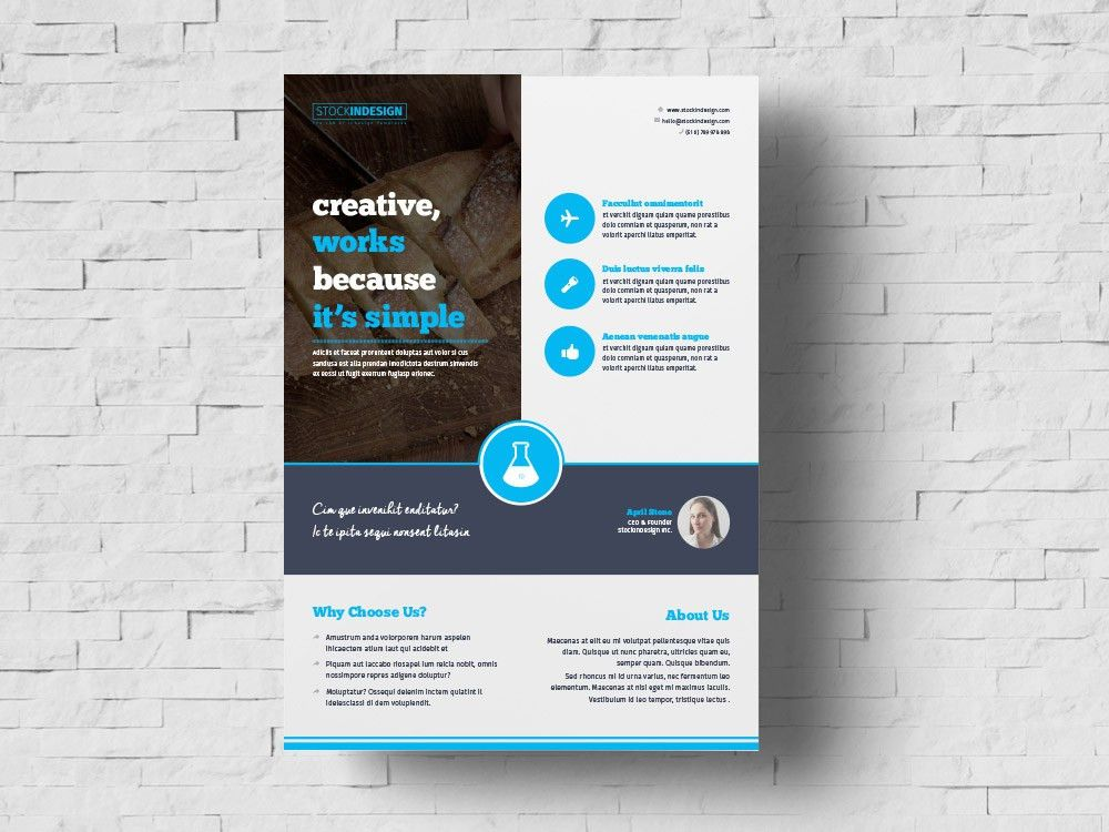 FREE Business Flyer Template | StockInDesign