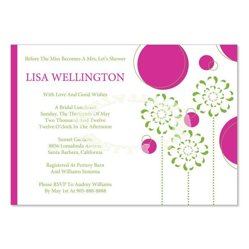 Do it Yourself Bridal Shower Invitations | DIY Printable Bridal ...