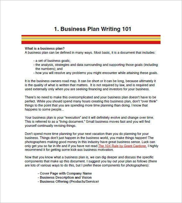Business Plan Sample In Word. Free-Business-Marketing-Plan ...