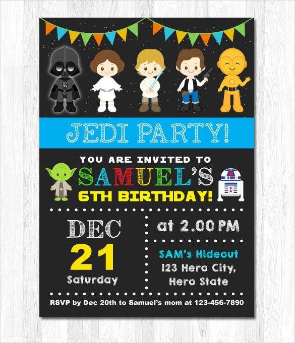 23+ Star Wars Birthday Invitation Templates – Free Sample, Example ...