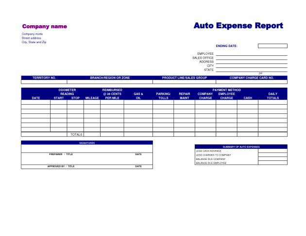 Very Simple Basic Expense Report Template by SaadLahsini : Helloalive