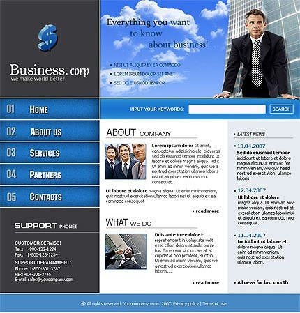 Free HTML Templates | Free HTML Template | Website Templates.bz