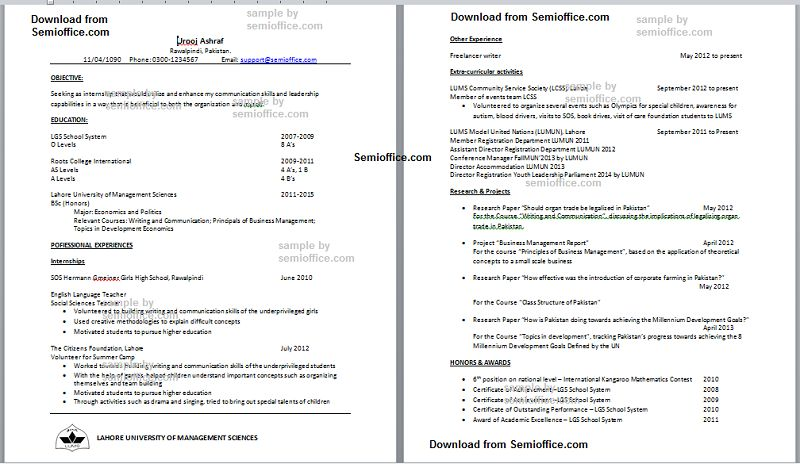 Extra curricular activities for resume examples