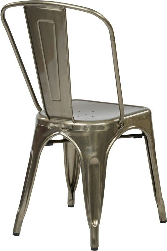 Designs Bristow Stackable Armless Metal Chair - Set of 2 ...
