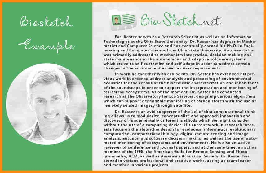 6+ biographical sketch sample | model resumed