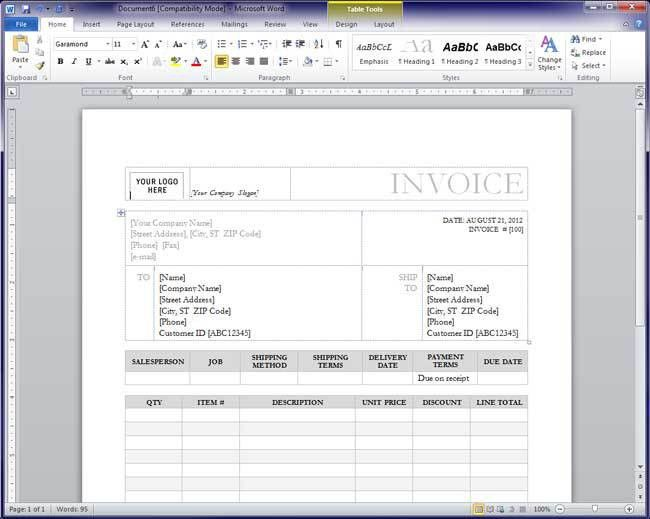 8+ how to make an invoice in word | Invoice Template Download