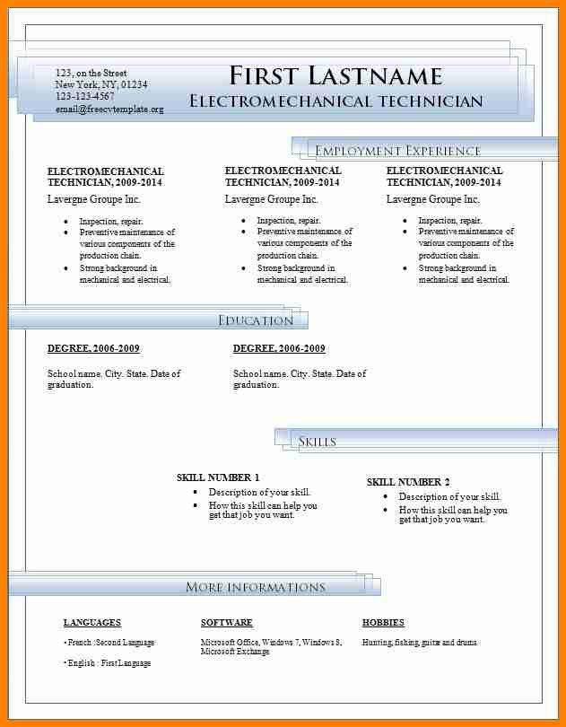 8+ curriculum vitae format download in ms word - mail clerked