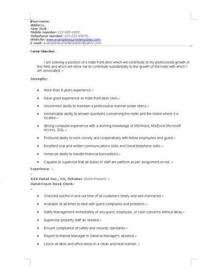 cover letter for front desk agent professional front desk agent