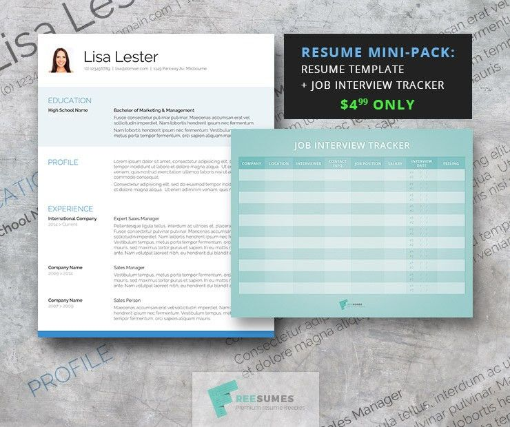 The Attention Grabber Resume Template Mini-Pack