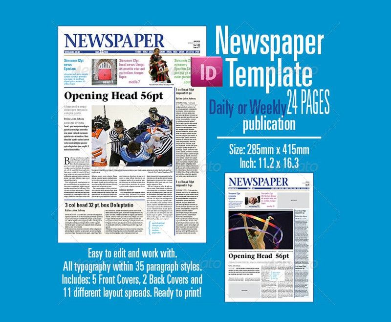21+ Modern Newspaper Layouts | Free & Premium Templates