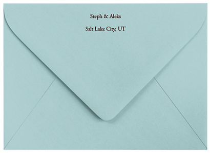 Wedding Invitation Return Address Template