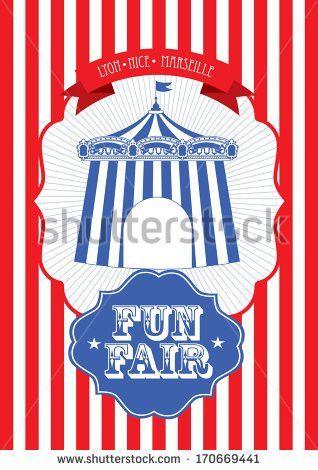 vintage circus/fun fair/ fairground tent fun fair/carnival poster ...
