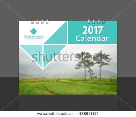 Cove Design Calendar 2017 Template Vector Stock Vector 488641114 ...