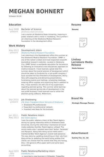 Development Intern Resume samples - VisualCV resume samples database