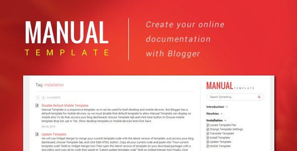 Manual Template – Create Your Online Document with Blogger