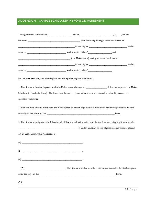 Scholarship Contract Templates. Code-Nhttps://Images ...