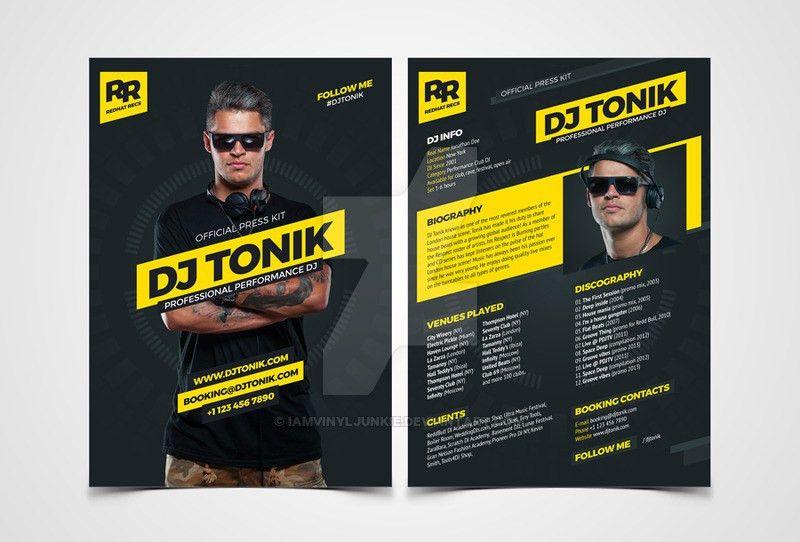 ProDJ - DJ Press Kit / Rider / Resume PSD Template by ...