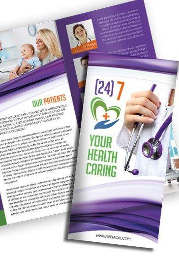 Medical – Free Tri-Fold PSD Brochure Template – by ElegantFlyer