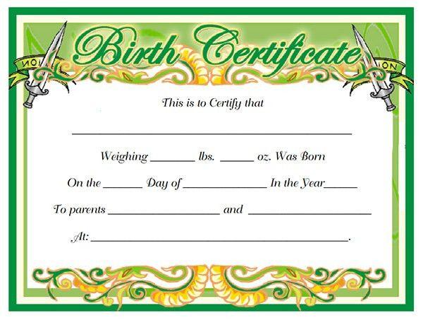 10+ Free Birth Certificate Templates | Sampleprintable.com