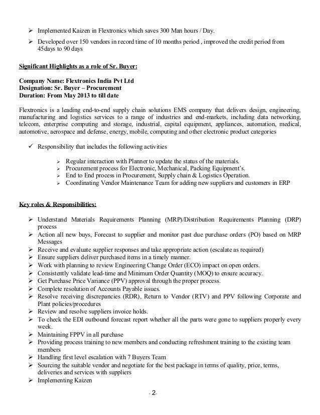 Download Procurement Engineer Sample Resume   haadyaooverbayresort.com