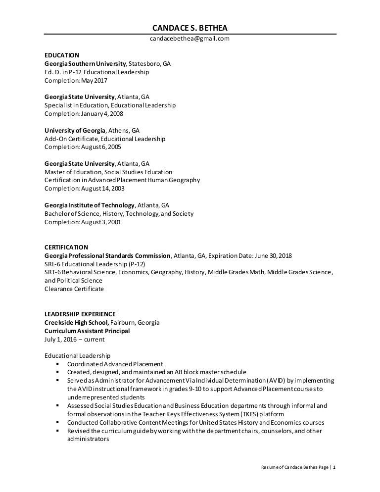 assistant principal resume assistant school principal resume or