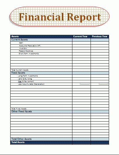 6+ Financial Report Template   Printable Receipt