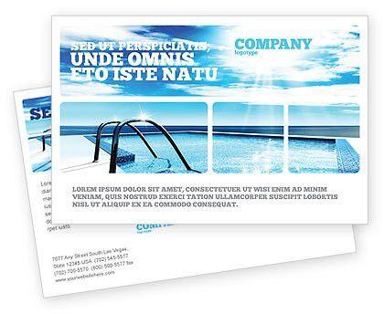 Swimming Pool Postcard Template in Microsoft Word, Adobe InDesign ...
