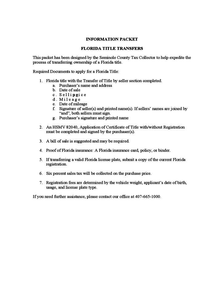Vessel Bill of Sale Sample Form - Florida Free Download