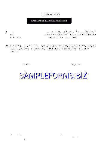 Employee Loan Agreement templates & samples forms