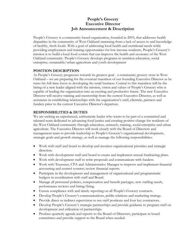 Medical Director Job Description. Volunteer Physician Job ...