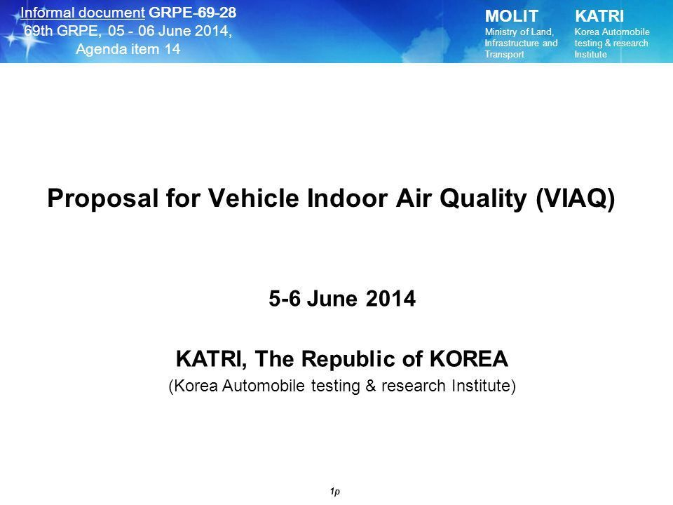 Proposal for Vehicle Indoor Air Quality (VIAQ) - ppt video online ...