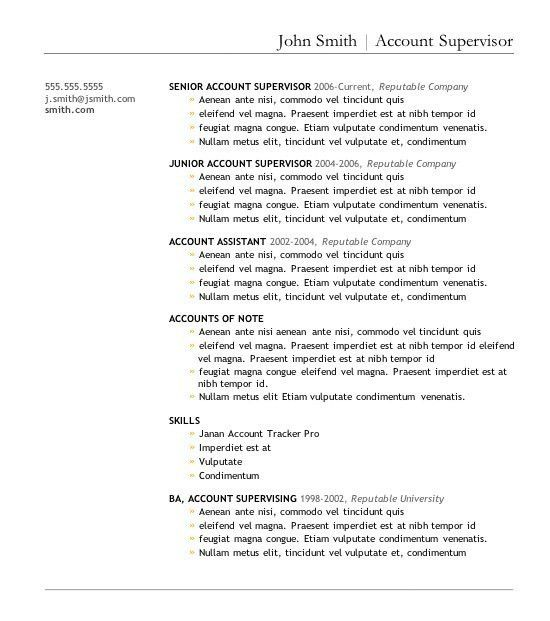 Word Resume Template Download | Template Design