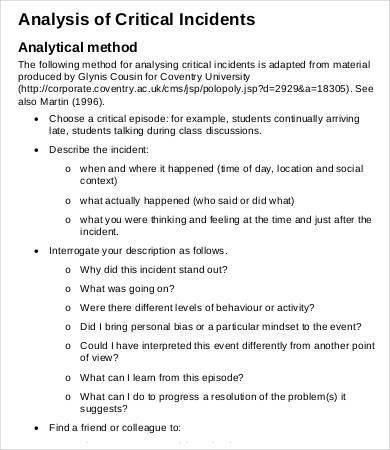 Critical Analysis Templates - 6+ Free Word, Excel, PDF Format ...