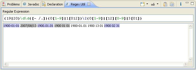 Eclipse Regular Expression (RegExp) Tester