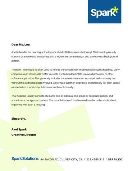 Corporate Company Business Letterhead - Templates by Canva