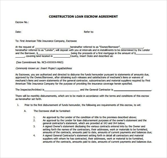 Mortgage Contract Template [Nfgaccountability.com ]