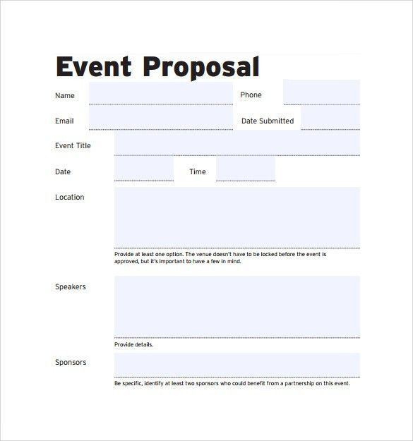 Event Proposal Template | cyberuse