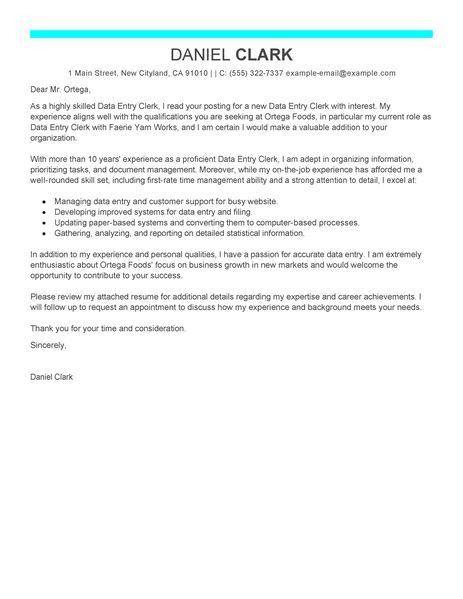 attendance clerk cover letter