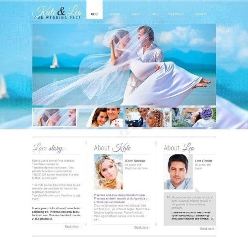 30+ Wedding HTML5 Website Templates