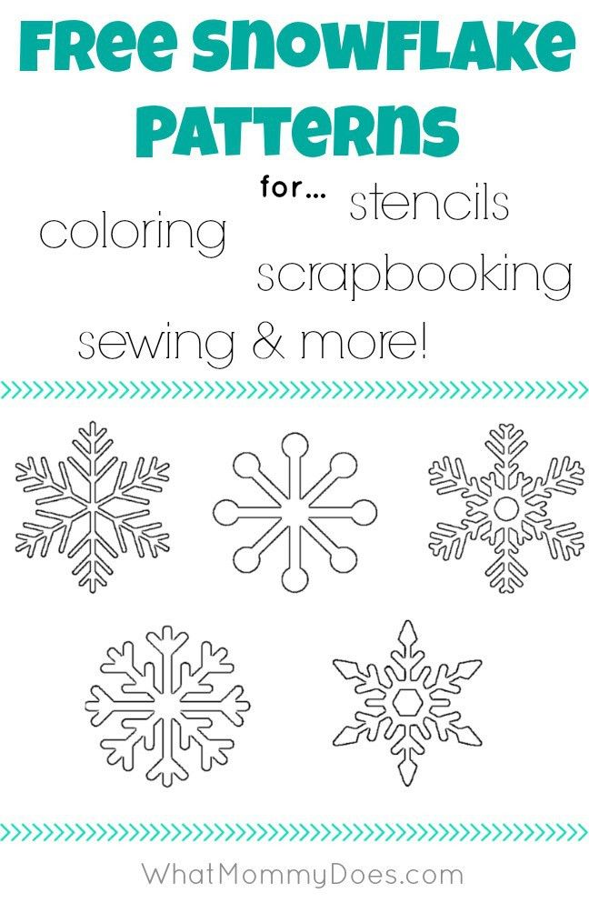 Free Printable Snowflake Templates – Large & Small Stencil ...