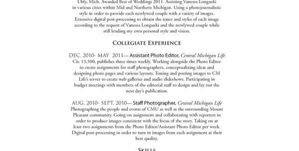 cover letter photography resume sample wedding photography resume ...