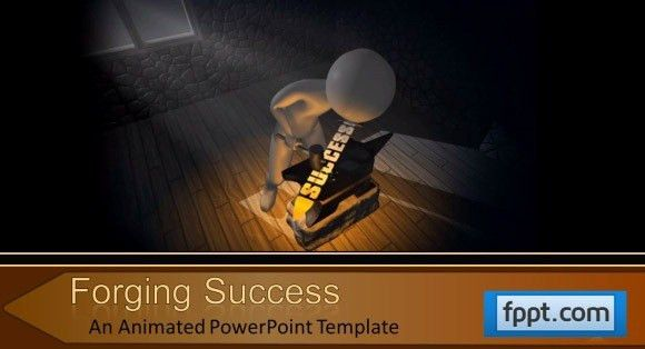 Animated Forging Success PowerPoint Template