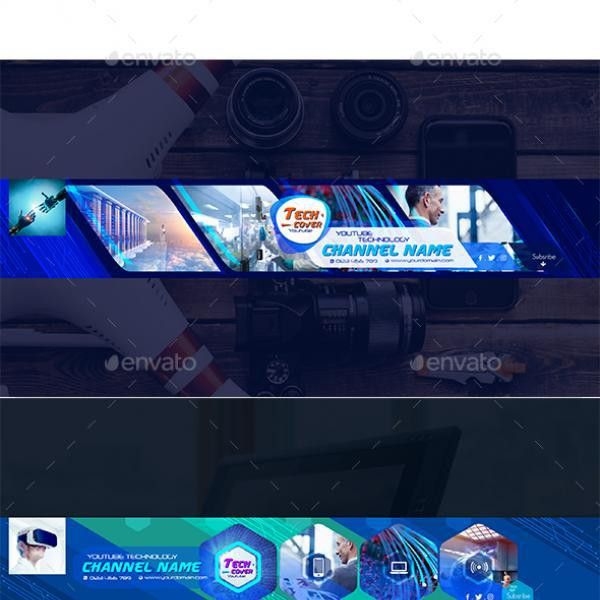 Download Free Graphicriver 5 Tech Channel - Youtube Banner ...