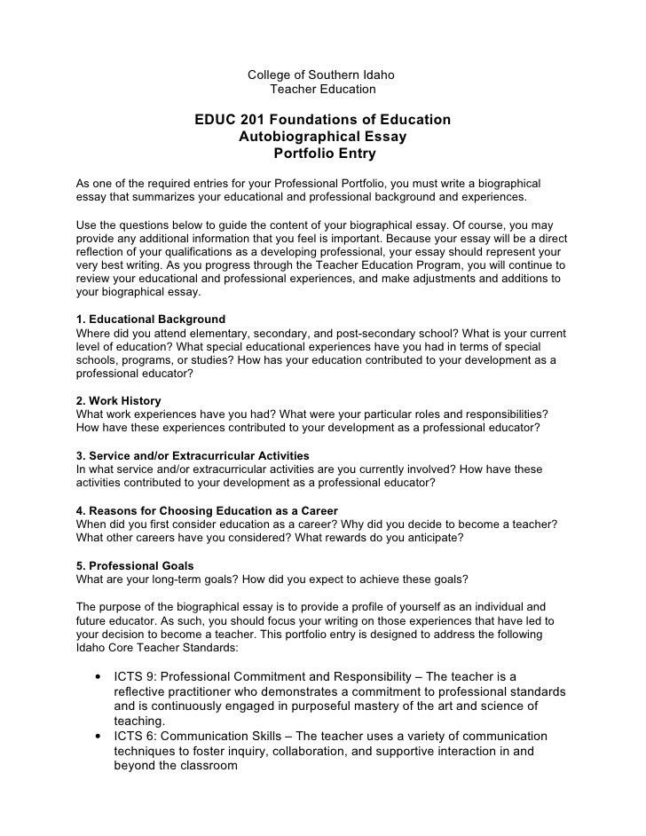 portfolio reflection essay examples