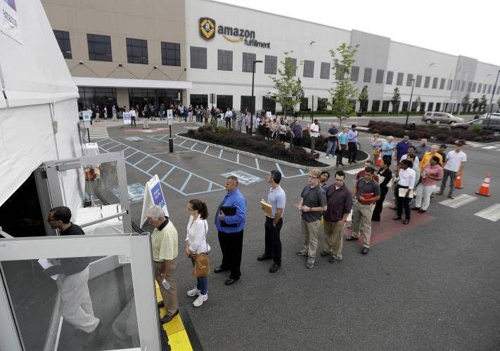 Amazon job fairs draw crowds
