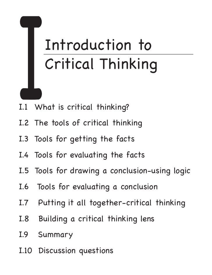 Conclusions in Critical Thinking