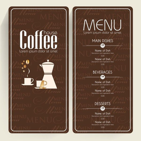 Coffee menu templates free vector download (14,770 Free vector ...